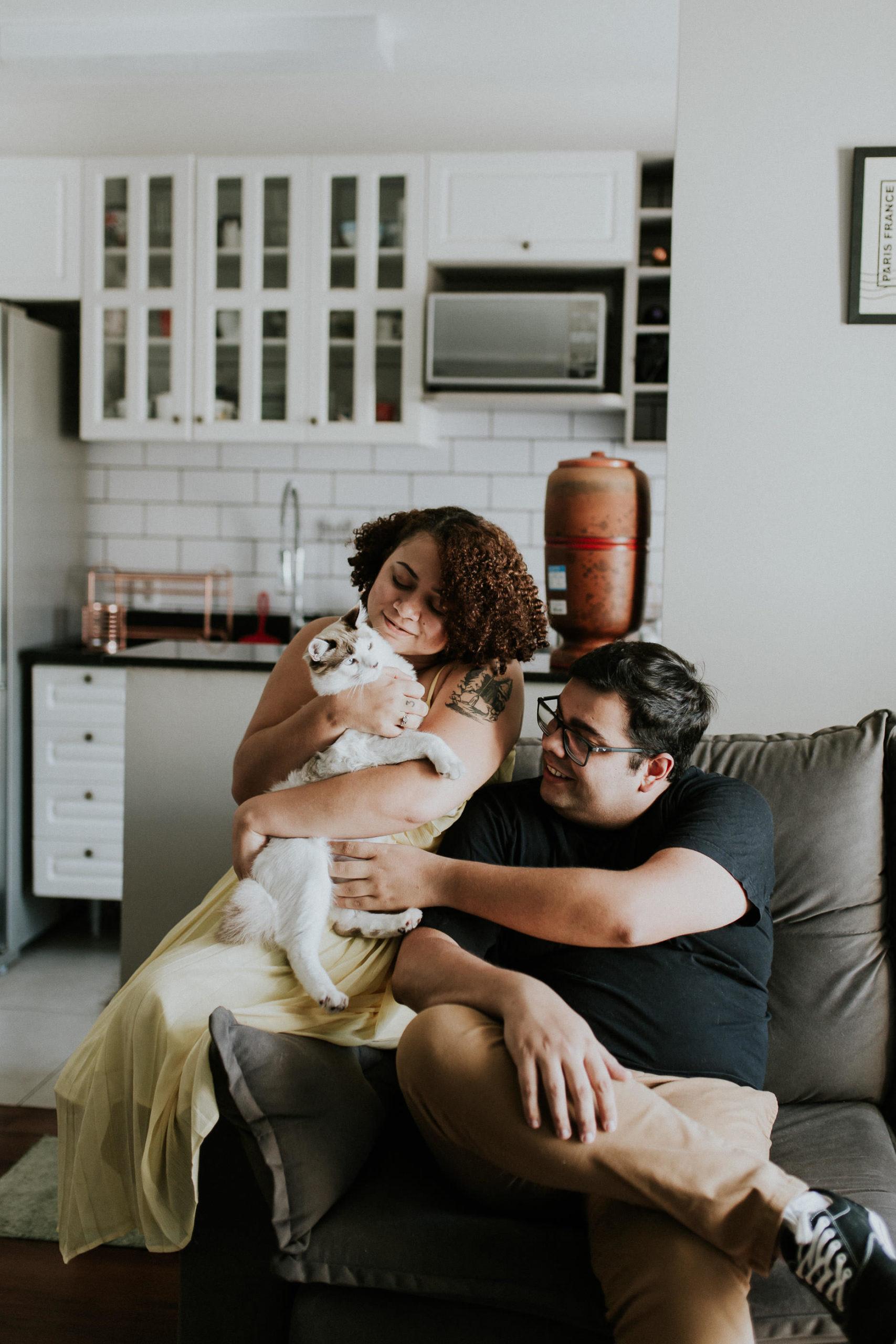 Ensaio Lifestyle | Pré-Wedding | Em Casa | Fotografia Minimalista